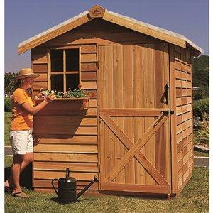 Cedarshed Gardener 6-ft x 6-ft Cedar Storage Shed