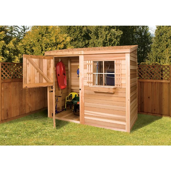 Cedarshed Bayside 8-ft x 4-ft Cedar Storage Shed