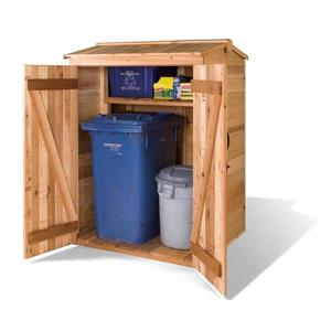 Greenpod Storage Shed  - 4' x 4 ' - Cedar