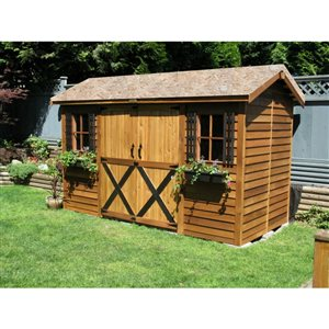 LongHouse Storage Shed - 12' x 6' - Cedar