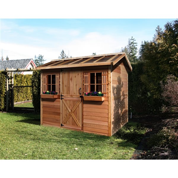 Cedarshed HobbyHouse 12-ft x 8-ft Cedar Storage Shed