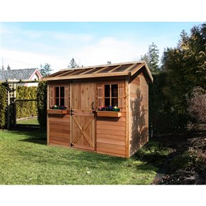 HobbyHouse Storage Shed - 12' x 8' - Cedar