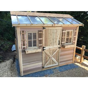 Cedarshed HobbyHouse 9-ft x 6-ft Cedar Storage Shed