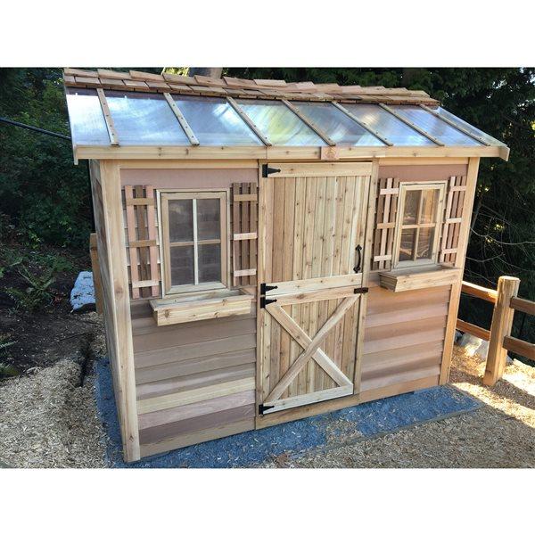 Cedarshed HobbyHouse Storage Shed - 10' x 8' – Cedar
