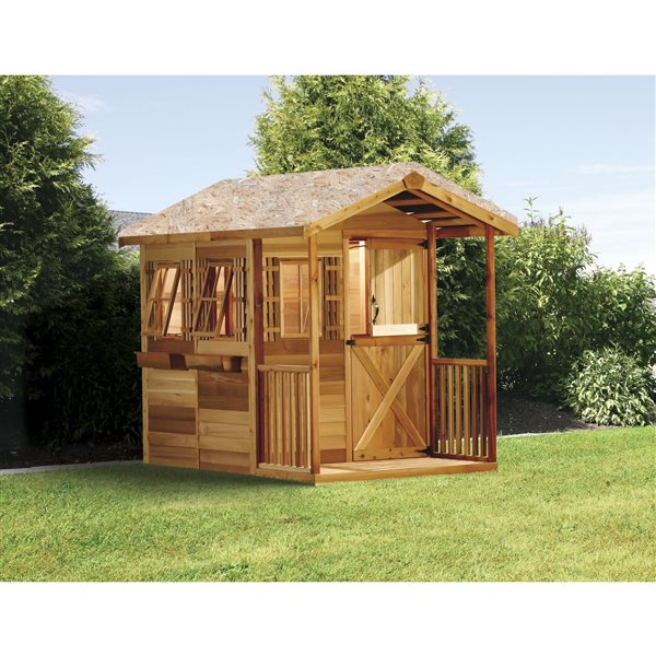 Cedarshed Gardeners Delight 6-ft x 12-ft Cedar Storage Shed