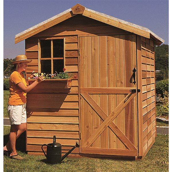 Cedarshed Gardener 6-ft x 12-ft Cedar Storage Shed