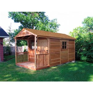 Cedarshed Clubhouse  8-ft x 16-ft Cedar Storage Shed