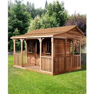 CookHouse Storage Shed - 12' x 10' - Cedar