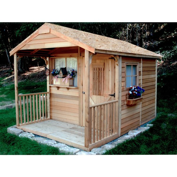 Cedarshed Clubhouse  8-ft x 12-ft Cedar Storage Shed