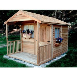 Clubhouse Storage Shed - 8' x 12' - Cedar