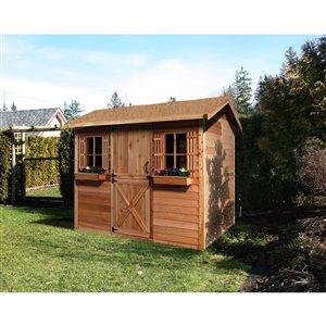 Cedarshed Cabana  9-ft x 6-ft Cedar Storage Shed