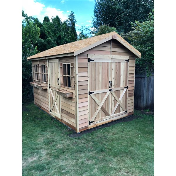 Cedarshed BoatHouse 8-ft x 12-ft Cedar Storage Shed