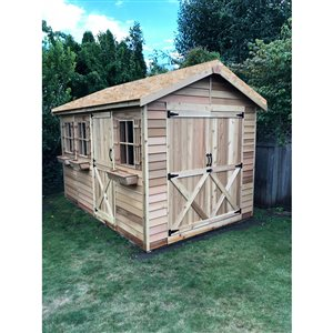 Cedarshed BoatHouse 8-ft x 16-ft Cedar Storage Shed