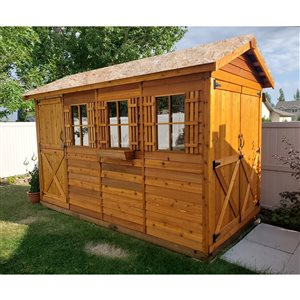 Cedarshed 6-ft x 12-ft Cedar BoatHouse Storage Shed