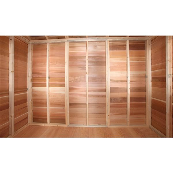 Cedarshed BunkHouse 12-ft x 14-ft Cedar Storage Shed