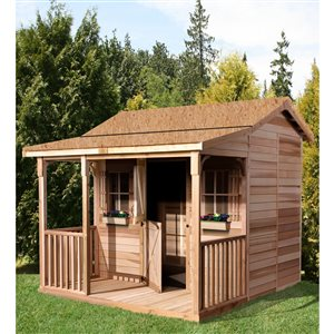 Cedarshed BunkHouse 12-ft x 12-ft Cedar Storage Shed