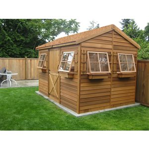 BeachHouse Storage Shed - 12' x 8' - Cedar