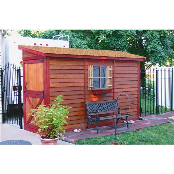 Cedarshed Bayside 12-ft x 4-ft Cedar Storage Shed