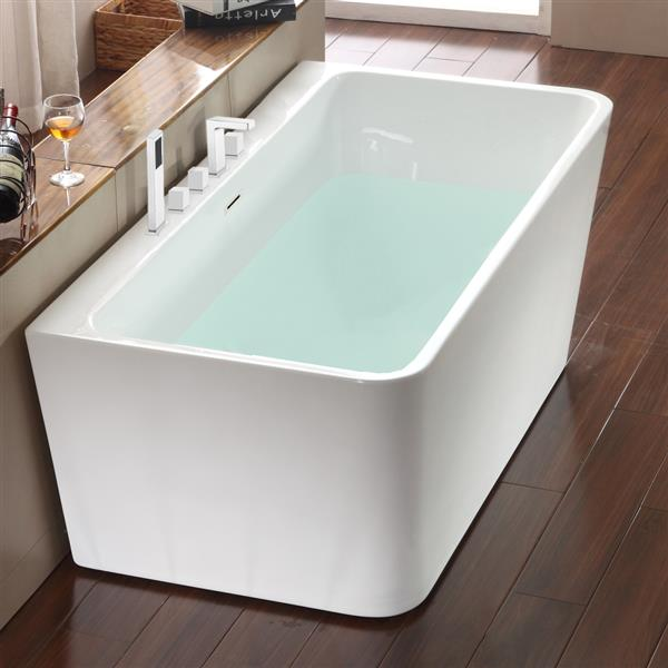 Jade Bath Vermont 59-in White One Piece Freestanding Tub