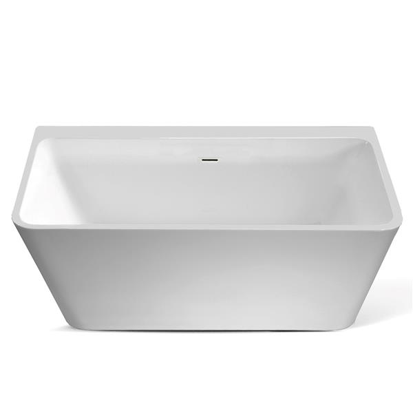 Jade Bath Vermont 67-in White One Piece Freestanding Tub