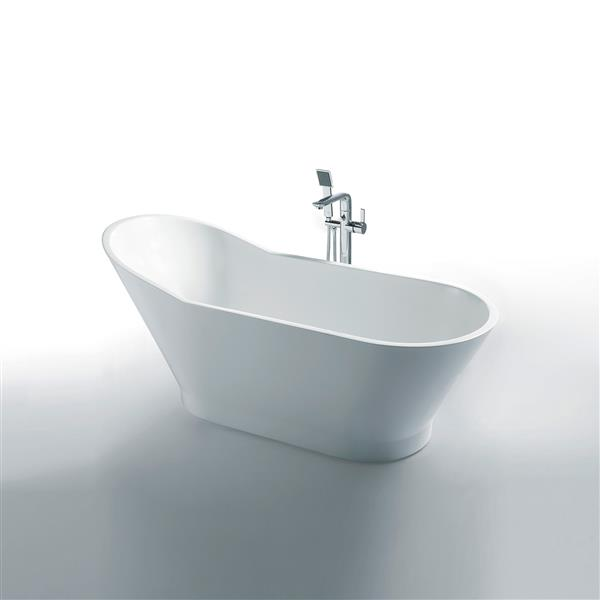 Jade Bath Zoe 59-in White One Piece Freestanding Tub