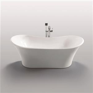 Jade Bath Penelope 70-in White One Piece Freestanding Tub