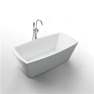 Jade Bath Cleopatra 67-in White One Piece Freestanding Tub