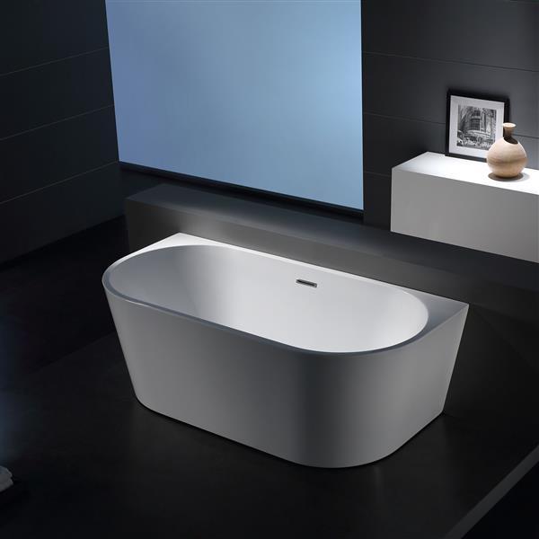 Jade Bath Sao Paolo 59-in White One Piece Freestanding Tub