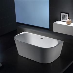 Jade Bath Sao Paolo 59-in White One Piece Freestanding Tub
