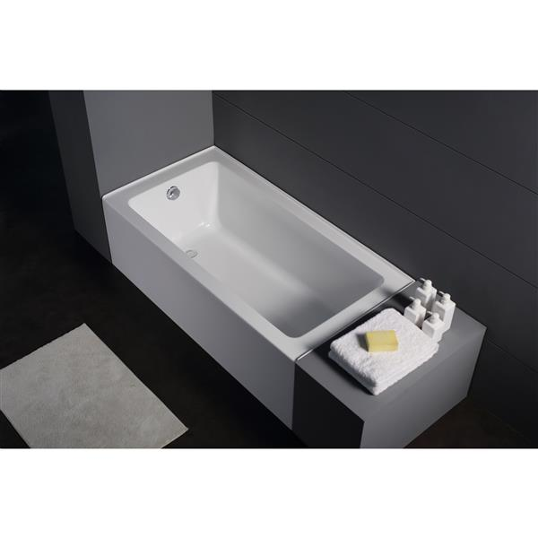 Jade Bath Zen 60-in White Alcove Tub with Right Drain