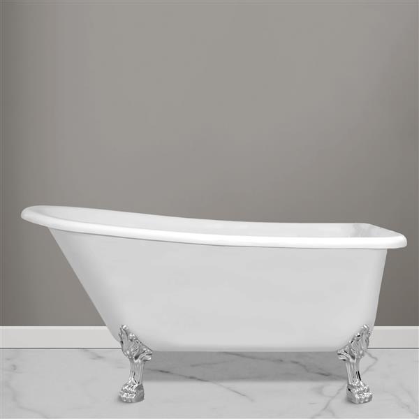 Jade Bath London 59-in White Freestanding Clawfoot Tub