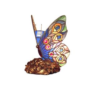 Fine Art Lighting Ltd. Blue Tiffany Butterfly Night Light