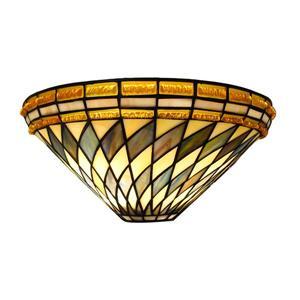 Fine Art Lighting Ltd. Tiffany-Style 8-in x 16-in x 7-in 2 Light Vintage Bronze Wall Sconce