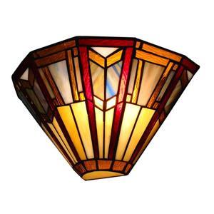 Fine Art Lighting Ltd. Tiffany-Style 5.5-in x 13-in x 6-in 1 Light Vintage Bronze Wall Sconce