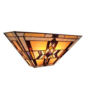 Fine Art Lighting Ltd Tiffany-Style 5.5-In x 16-In x 7-In 2 Light Vintage Bronze Wall Sconce