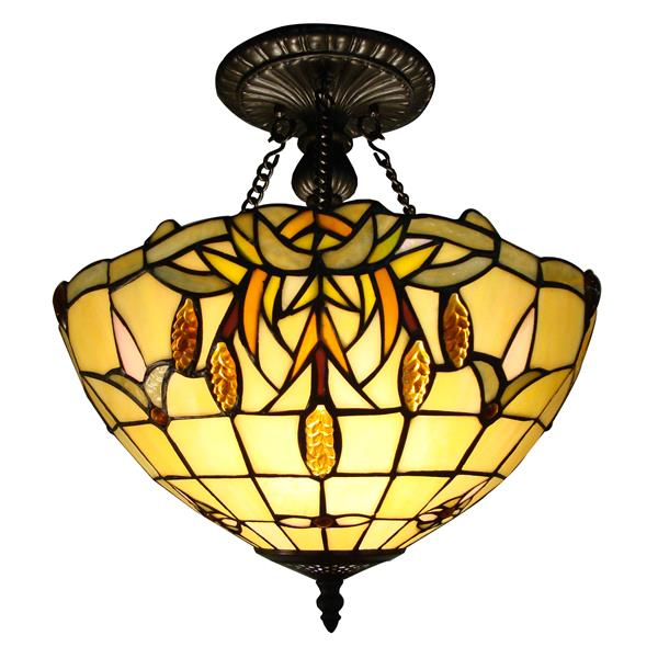 Fine Art Lighting Ltd. Tiffany 2-Light Bronze 14.5-in x 14.5-in x 16.5-in Semi-Flush Mount