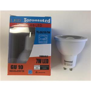 Ampoule DEL - GU10 - 7 W - 3000 K - paquet de 10