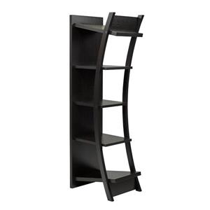 Brassex 70.75-in x 17.75-in x 23.75-in Black 4-Tier Display Shelf