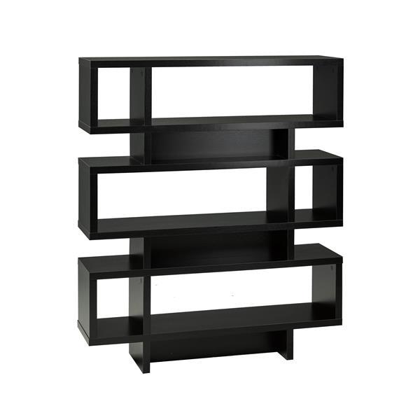 Brassex 53-in x 12-in x 44-in Black 3-Tier Shelf