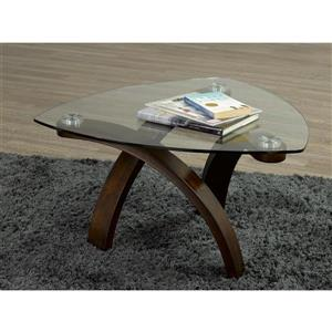 Table basse Teagan, verre