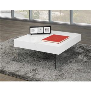 Coffee Table with Storage , White