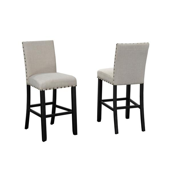 Brassex Avery Beige Stool (Set of 2)