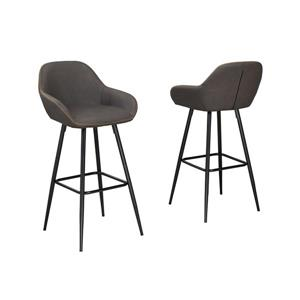 Tabourets de bar Alexis , 2 pieces, brun