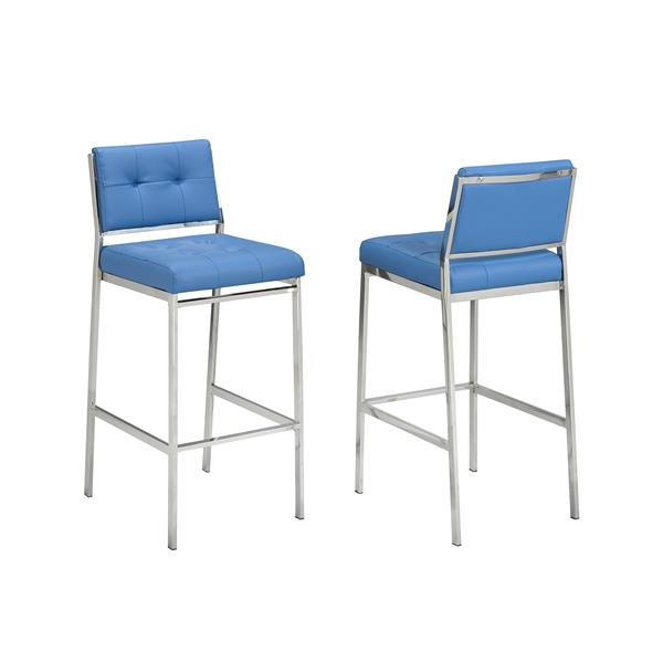 Brassex Sorrento Blue Bar Stools (Set of 2)