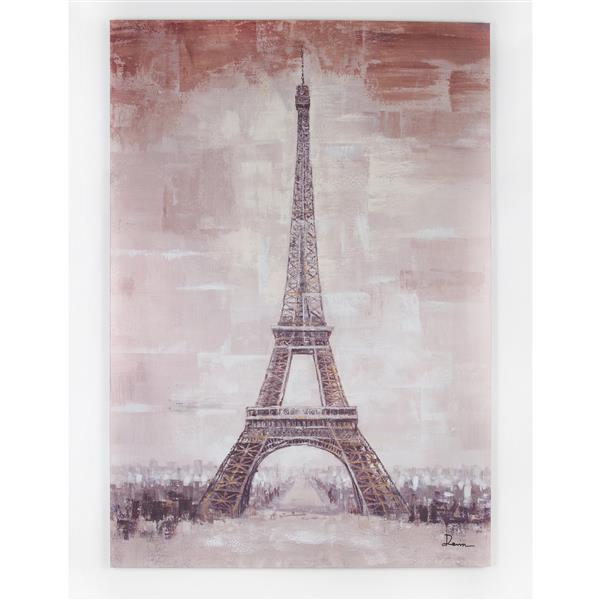 Eiffel Tower Canvas 55-in x 79-in
