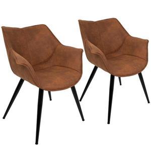 "Chaises Wrangler, 25,75""x 27""x 32,25"", brun, ensemble de  2"