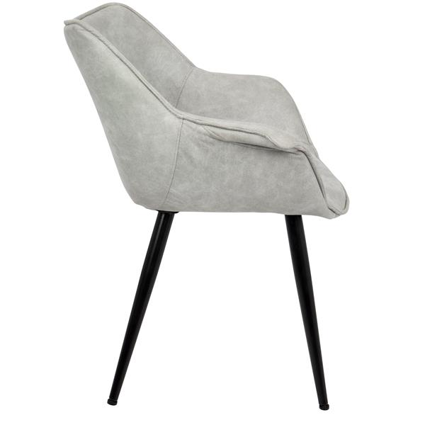 Lumisource Wrangler 25.75-in x 27-in x 32.25-in Grey Chairs (Set of 2)