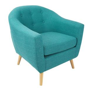 Lumisource Rockwell Chair 30 x 29.75 x 31-in Polyester Green