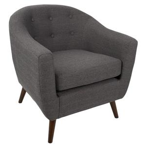 Lumisource Rockwell Chair 30 x 29.75 x 31-in Polyester Gray