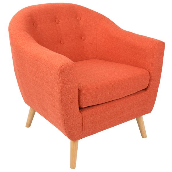 "Chaise Rockwell, 30"" x 30"" x 31"", polyester, orange"